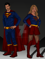 Supergirl Concept: Superman and Supergirl by IronAvenger1234