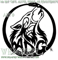 Tattoo Howling Wolf ADG Logo by WildSpiritWolf