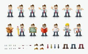 Business Man Vector Characters by Pixeden