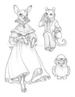Victorian Animals by VisionCrafter