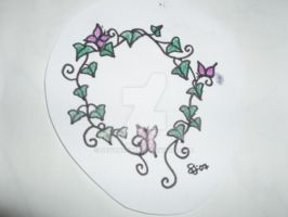Vines + Butterflies Tattoo by devonette