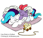 Sleeping Baby Ponies - Colored by SD-DreamCrystal