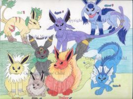 Eevee family by MaguschildCloud