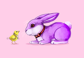 Bunny and Chick by PaleBlank