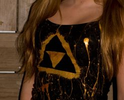 Triforce Splatter Tank by CjiadonBast