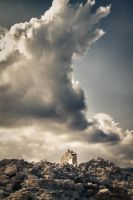 ruins and clouds by Perena