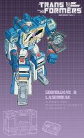 Soundwave and Laserbeak poster by J-Rayner