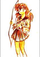 Kagome with bow and arrow by Stargazermay