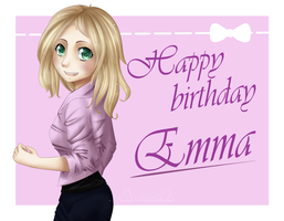 Happy birhday Emma by Julisia2