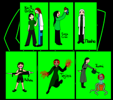 SPAZ - Character Drawings : A Bunch of Dorks by Nasha-Yakushi