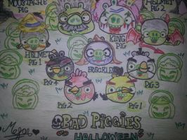 Bad Piggies Halloween: MOAR Candy?! by MeganLovesAngryBirds
