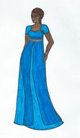 Evening gown with sheer covers-colored by xelathegreat