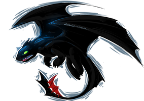Toothless by Polkadot-Creeper