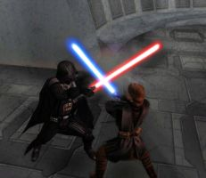 Anakin Skywalker vs. Darth Vader by Andruril93
