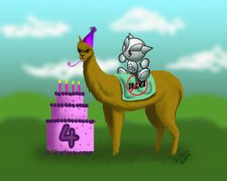 4th Birthday Llama by PixlPhantasy