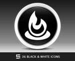 36 Black And White Icons by Solidinkdesign
