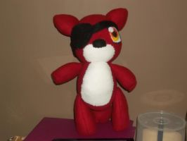 Plush Adventures: Foxy the Pirate First attempt by AD-SD-ChibiGirl