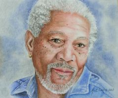 Morgan Freeman by KatLEwing