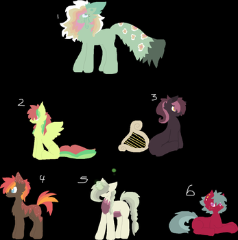 Tower of pon pons aDOPTS open by Kyah-Pony-Adoptables