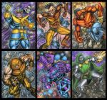 MARVEL MEGA PERSONAL SKETCH CARD SET Part D by AHochrein2010