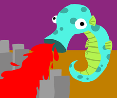 Giant Seahorse: ATTACK by MMO-Rehab