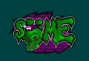 Green Slime skull by Loofen