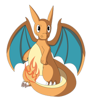 Chibi Charizard by Sandstormer