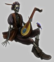 Skeleton Bard by Keiton