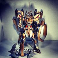 Gundam Kitbash Rytsar - Full Body View by s00nk1a