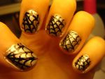 Cobweb nails by luminousleopard