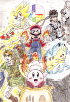 Super Smash Bros. Brawl Poster by ParadoxWulf