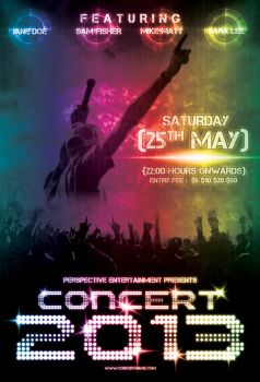 Grunge Concert Flyer by hawkmax