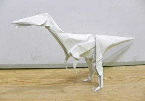 Coelophysis Origami by twistedndistorted