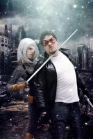 Ravager and Red Hood - DC Comics by WhiteLemon
