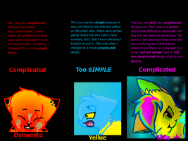 Why I changed my design so many times. by WarriorCatkittyclaws