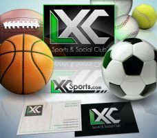 LXC Sports logo + card design by Stephen-Coelho