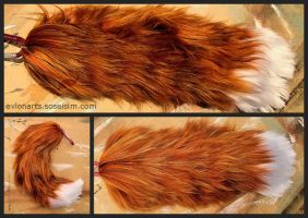 Natural Fox Yarn Tail by EvlonArts