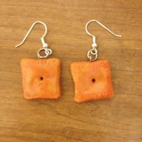 Cheese Cracker Earrings by Anesthetic-X