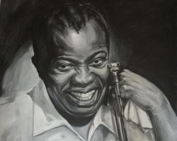 Louis Armstrong by kenpaint