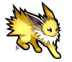 Jolteon Sticker by Smudgeandfrank