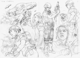 fourth ww sketches by bordon