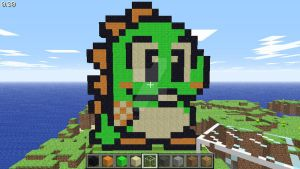 Bub (Bust-A-Move Millennium) in Minecraft by superslinger2007