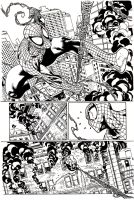 Inks - Amazing Spider-Man page by Paulo Siqueira by adr-ben