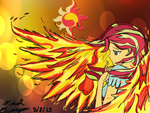 SunSet Shimmer Phoenix by SiopaoNinja