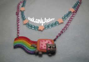 Nyan cat Necklace:sweetest sky by gothic-yuna