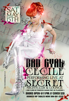Cecile Performing Live Flyer by DeityDesignz