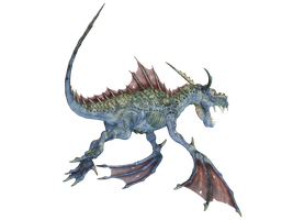 Water Dragon 08 PNG Stock Pack by Roys-Art