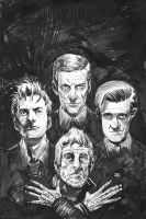 Doctor Who-Four Doctors Cover by ClarkWGriswold