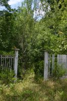 Old Garden Fence Entrance 002 by poeticthnkr