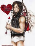 Daryl Dixon  - Valentine Cupid by zelldinchit
